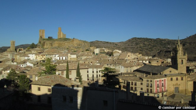 Panorámica de Uncastillo desde la Iglesia de San Juan