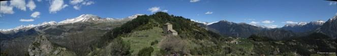 Panorámica del recorrido desde la Ermita de la Virgen de la Peña (pinchar para ver ampliada la imagen)