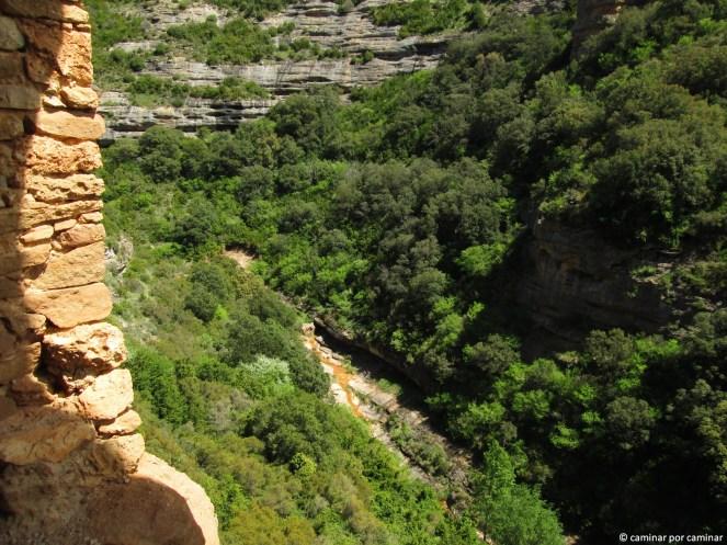Vistas del barranco desde las alturas de la ermita