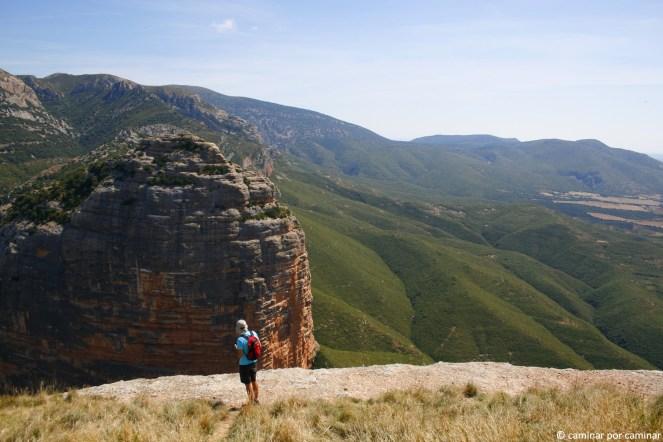 Vista hacia la Peña de Amán (1123 msnm)