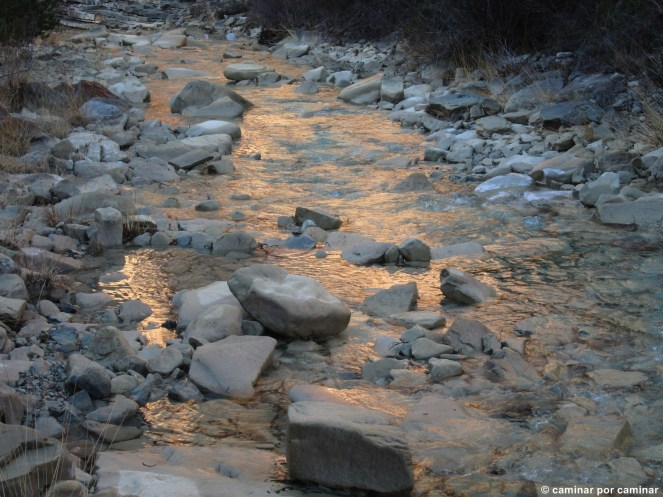 Últimas luces sobre el barranco de Oliván