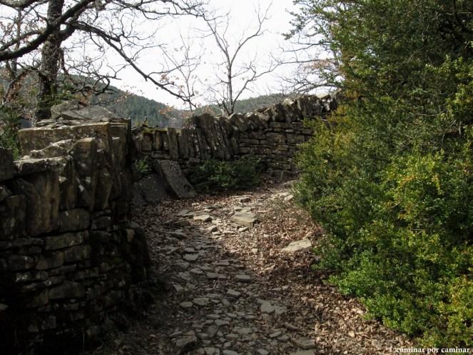 Muros levantados piedra sobre piedra