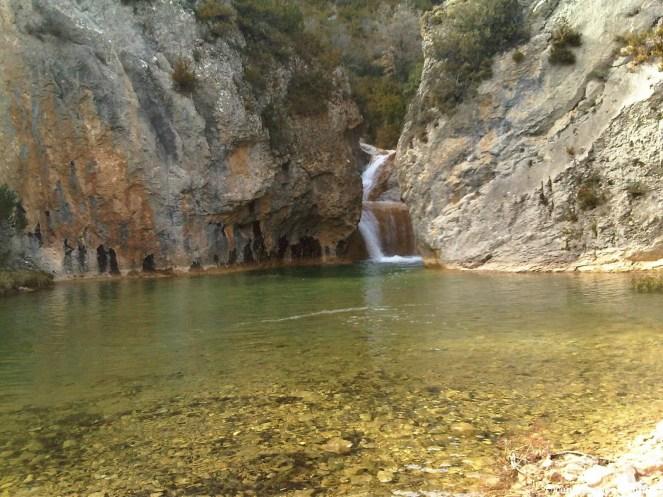 La badina Estañonero sobrada de agua. (Foto tomada con teléfono móvil)