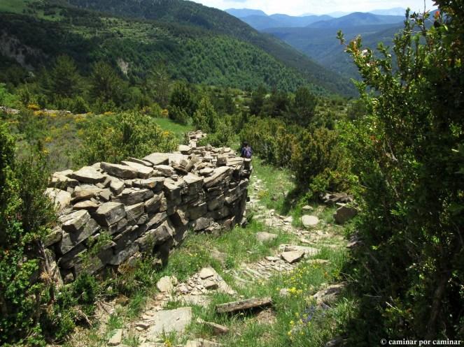 Muros de piedra seca por Patiecho; Otal ya se intuye