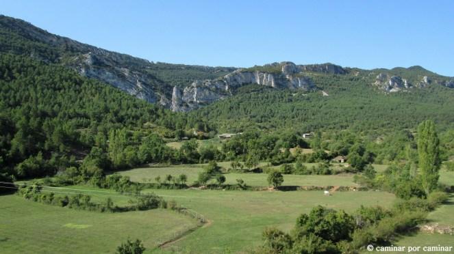 El bucólico paisaje que se contempla desde Villalangua
