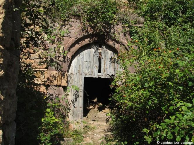Las zarzas quieren borrar la entrada al templo