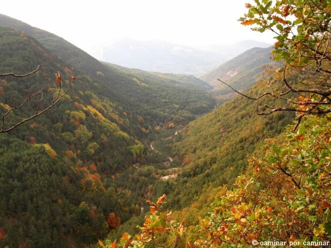 Valle abierto por el Barranco de Oliván