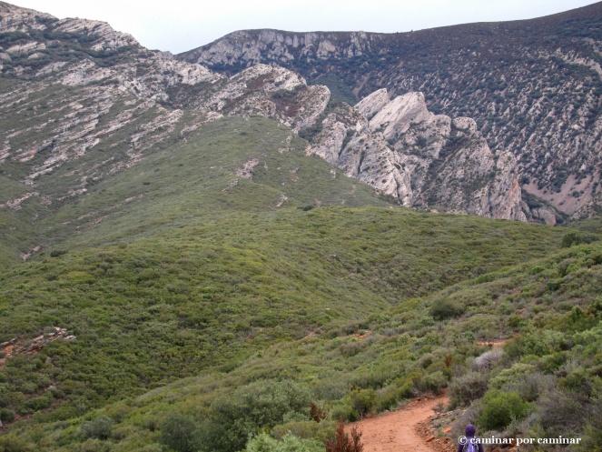 Primeros pasos hacia el barranco de San Martín