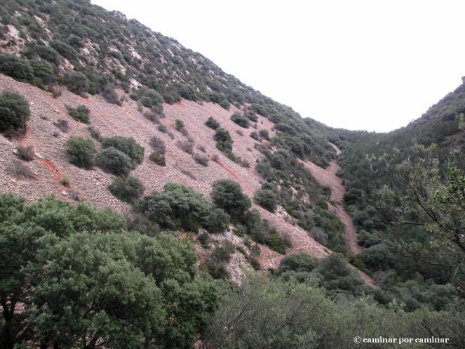 Las pedreras de la otra cara de la montaña