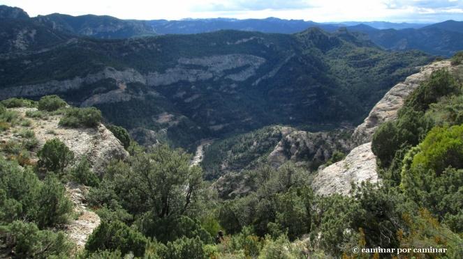 Sobrecogedora vista desde la canal de piedras