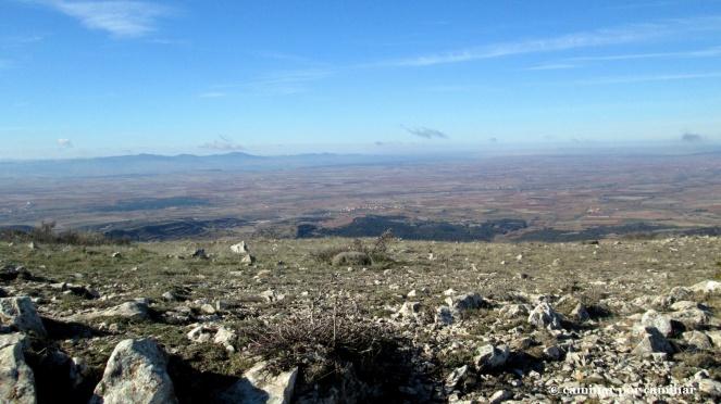 La planicie de Campo Romanos hacia el oeste